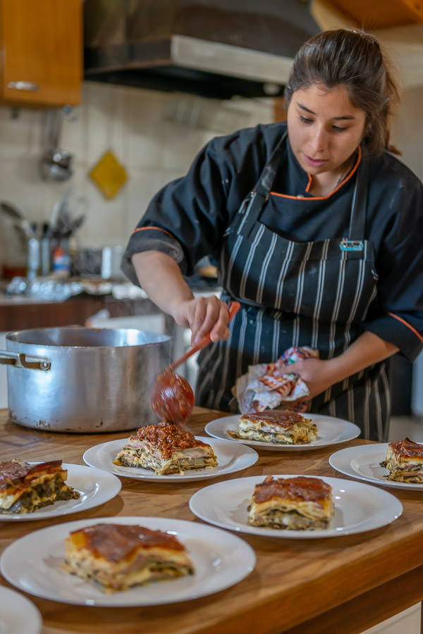 """Their food seemed to be inspired by Italian and Spanish cuisine primarily. Large cuts of meat, lasagna and other pasta dishes were standard fare."""