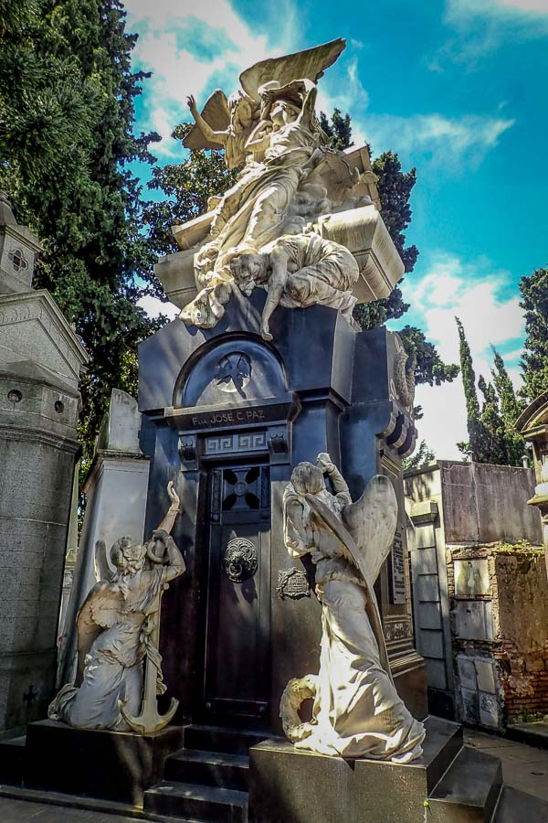 """La Recoleta Cemetery, which is the resting place of notable Argentineans, such as Eva Peron, presidents of the country and is thought to be one of the most beautiful cemeteries in the world."""