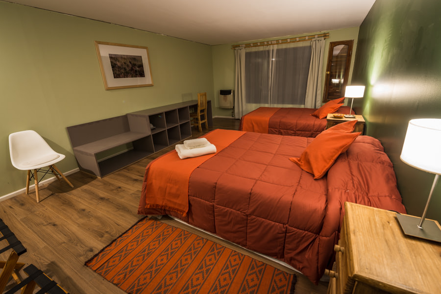 Although the lodge is off the grid and far from civilization, it still offers comfortable large rooms each with 2 queen beds