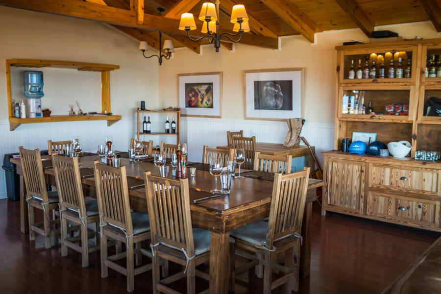 The dining room in the main lodge gathering area