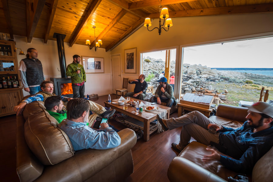 Relaxing back at the lodge between fishing sessions. When fishing the beats within walking distance of the lodge the fishing is broken down into a morning session and afternoon session with lunch back at the lodge