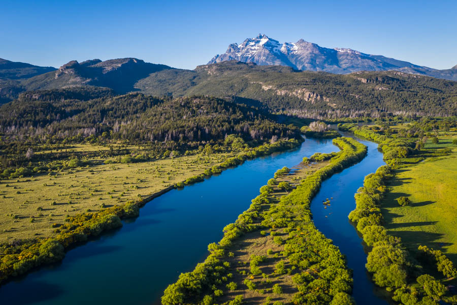 The Futaleufu (or Rio Grande) is the home river for the El Encuentro Lodge. This amazing fishery is a large tailwater similar to the Missouri River in Montana but with far fewer anglers