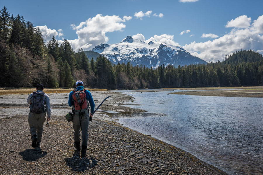 Walking tidal flats in search of wild Alaskan steelhead