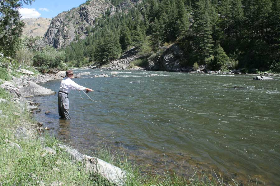 Wade fishing can be very productive at higher flows