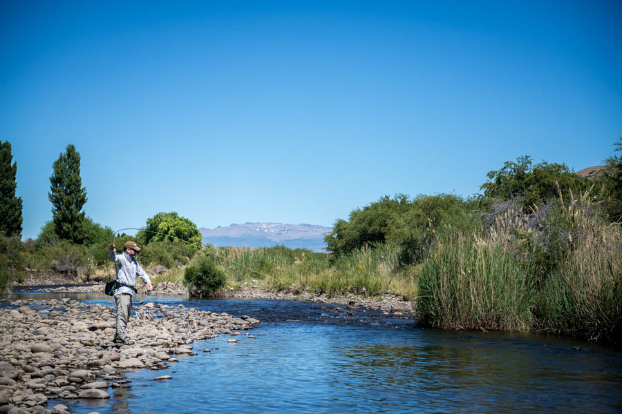 The entire length of Quemquemtreu creek is found on the estancia.  Its 20 miles of water are infested with dry fly loving rainbows and a few big browns to 25""