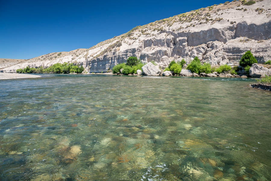 Quemquemtreu has private access to over 30 miles of the Collon Cura river.  The river is a dead ring for the Yellowstone River in Montana between Livingston and Big Timber...except without another boat in sight!