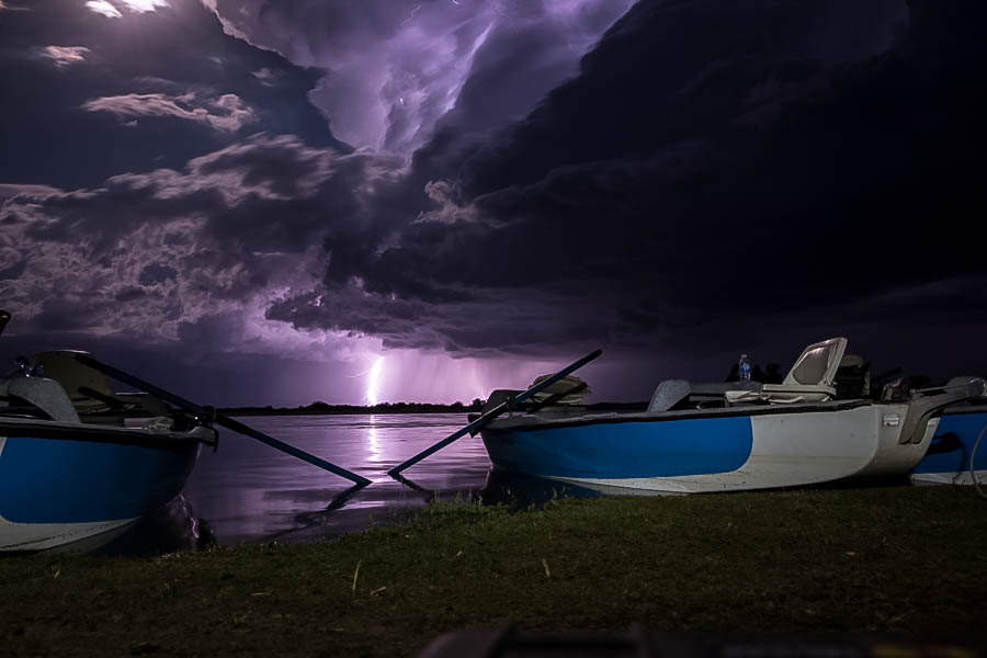 A spectacular lightning storm put on quite a show on our final camping night
