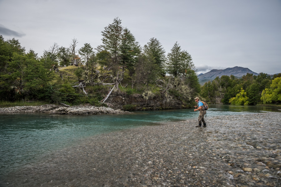 Casting to rising trout on the Maiten