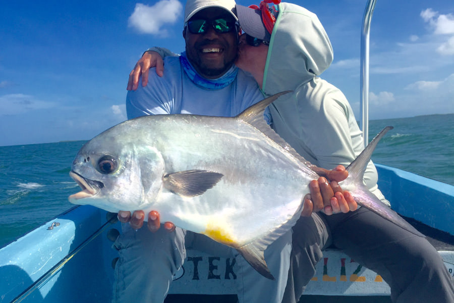 Fly fishing for Permit in Belize with Belcampo Lodge