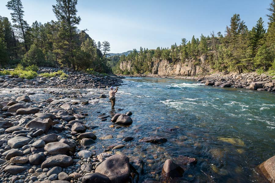 The Yellowstone River becomes a good option in late June