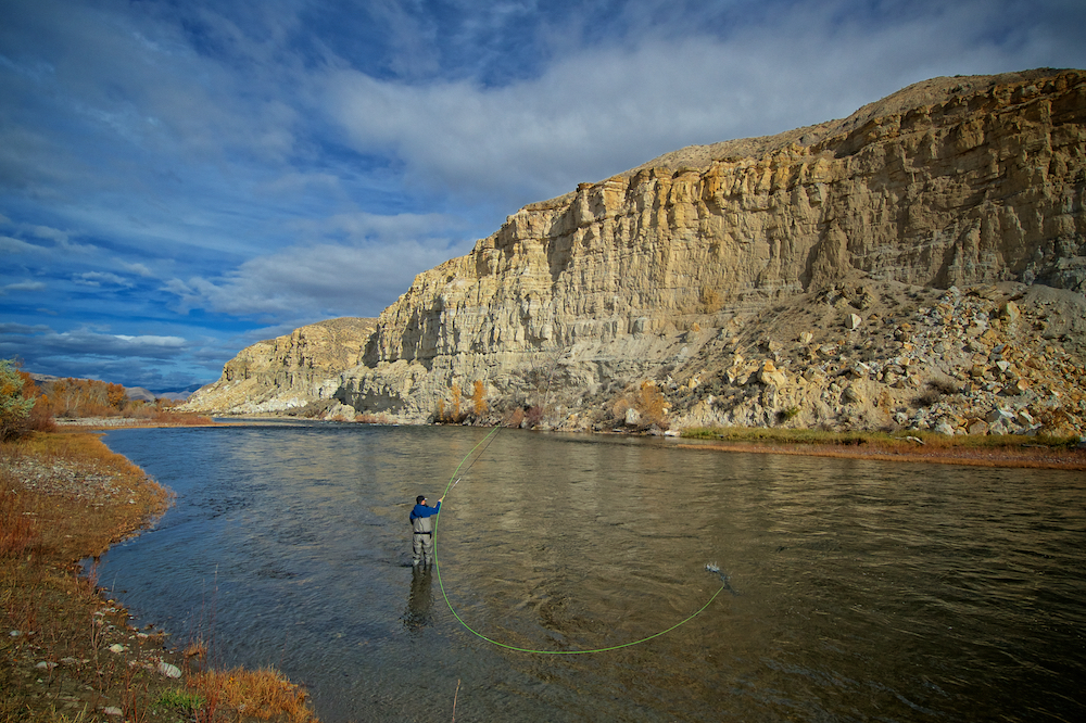 The author casts in a gorgeous pool, looking for that tailout steelhead! photo: Autumn Goodrich