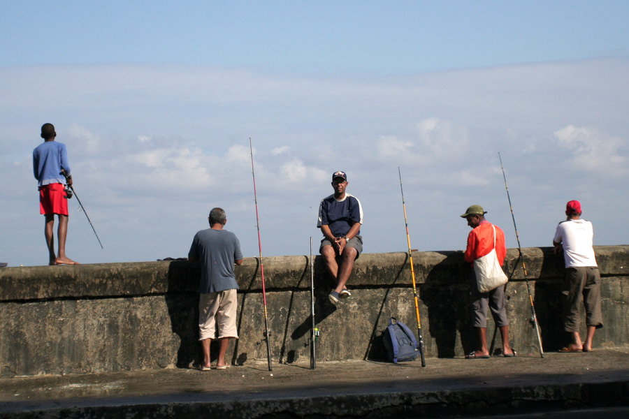 Fisherman on the Malecon